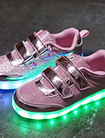 cheap -Girls' Boys' Shoes Tulle Net Summer Light Up Shoes Light Soles Sneakers LED for Casual Outdoor Gold Silver Pink