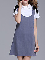 abordables -Femme Grandes Tailles Coton Set - Couleur Pleine Robes