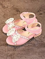cheap -Girls' Shoes Leatherette Summer Flower Girl Shoes / Comfort Sandals for Casual White / Blue / Pink