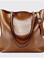 cheap -Women's Bags PU Tote Zipper for Casual Office & Career All Seasons Black Red Brown Wine