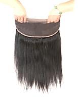 Недорогие -Laflare Жен. Прямой 360 Лобовой Бразильские волосы Швейцарское кружево Натуральные волосы Бесплатный Часть Средняя часть 3 Часть С