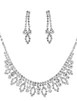 cheap -Women's Leaf Jewelry Set 1 Necklace / Earrings - Classic / Elegant / Sweet Silver Bridal Jewelry Sets For Wedding / Party
