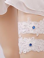 baratos -Renda Meias Wedding Garter  -  Pedrarias Meias Casamento