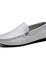 Недорогие -Муж. обувь Наппа Leather / Кожа Весна / Осень Удобная обувь / Обувь для дайвинга Кеды Для прогулок Коричневый / Зеленый / Синий