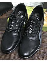 preiswerte -Herrn Schuhe Schweineleder Frühling / Herbst Komfort Sneakers Schwarz