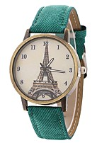 cheap -Women's Quartz Fashion Watch Chinese Large Dial PU Band Casual Eiffel Tower Black Blue Brown Green Yellow