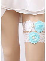 cheap -Lace Elegant Wedding Wedding Garter 617 Rhinestone Lace Garters Wedding Event / Party