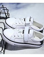 abordables -Fille Garçon Chaussures Cuir Printemps Automne Confort Basket pour Décontracté Blanc Noir