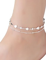 cheap -Star Heart Anklet - Women's Silver Classic Vintage Star Heart Alloy Anklet For Gift Daily