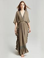 cheap -SHE IN SUN Women's Basic Boho Shift Dress - Solid Colored