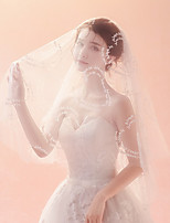 cheap -Two-tier Heart shape Veil Wedding Veil Elbow Veils 53 Heart Trim Tulle