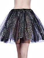 cheap -Wedding Event / Party Slips Polyester Short-Length Party / Evening Skirt with MiniSpot Split Joint