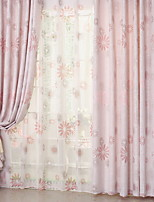Недорогие -Шторы портьеры Гостиная Цветочный принт Современный стиль Хлопок / полиэфир С принтом