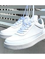preiswerte -Herrn Schuhe Künstliche Mikrofaser Polyurethan Frühling / Herbst Komfort Sneakers Weiß / Schwarz