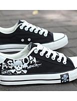 Недорогие -Муж. обувь Полотно Весна / Осень Удобная обувь Кеды Белый / Черный / Синий