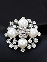 cheap -Women's Flower Brooches - Floral / Fashion / European Gold / Silver Brooch For Wedding / Daily