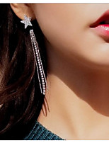 cheap -Stud Earrings / Front Back Earrings - Star Simple, Tassel, Fashion Silver For Wedding / Evening Party
