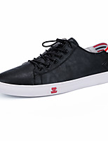 cheap -Men's Shoes Tulle / Leatherette Fall / Winter Comfort Sneakers Walking Shoes White / Black