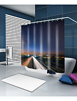 cheap -Shower Curtains & Hooks Casual Modern Polyester Contemporary Novelty Machine Made Waterproof Bathroom
