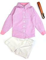 Недорогие -Дети Дети (1-3 лет) Девочки Однотонный Без рукавов Набор одежды