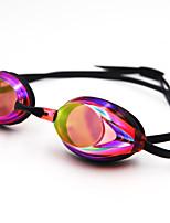 Недорогие -плавательные очки плавательные очки Противо-туманное покрытие Водонепроницаемость силиконовый Поликарбонат красный синий Темно-синий