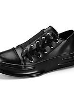 Недорогие -Муж. обувь Резина Весна / Лето Удобная обувь Кеды Белый / Черный / Черно-белый