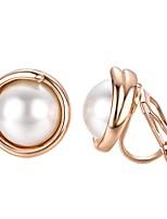 abordables -Femme Clips - Bohème / Coréen Or / Argent Forme de Cercle Des boucles d'oreilles Pour Soirée / Cadeau