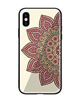 cheap -Case For Apple iPhone X iPhone 8 Pattern Back Cover Mandala Hard Tempered Glass for iPhone X iPhone 8 Plus iPhone 8 iPhone 7 iPhone 6s