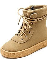 cheap -Girls' Shoes Nubuck leather Fall Winter Fashion Boots Boots Mid-Calf Boots for Casual Black Beige Army Green