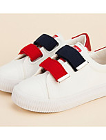 cheap -Girls' Boys' Shoes PU Spring Fall Comfort Sneakers for Casual White Black