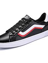 baratos -Homens sapatos Couro Ecológico Primavera Outono Conforto Tênis para Casual Preto Vermelho Branco/Preto