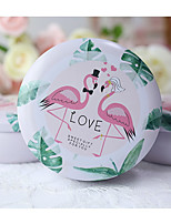 cheap -Circular Tins Favor Holder with Pattern / Print Favor Boxes - 8