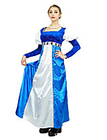 cheap -Princess Medieval Costume Women's Dress Masquerade Blue Vintage Cosplay Terylene Long Sleeves