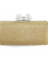 cheap -Women's Bags Polyester Evening Bag Crystal Detailing for Wedding Event/Party All Seasons Gold Silver