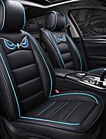 abordables -ODEER Couvre-siège Noir/Bleu faux cuir Dessin Animé for Universel Toutes les Années Tous les modèles