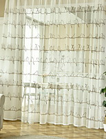 cheap -Curtains Drapes Living Room Geometric Cotton / Polyester Jacquard