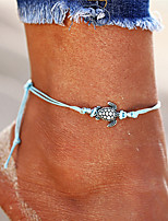 cheap -Bohemian , Anklet - Men's Women's Black Beige Blue Vintage Bohemian Fashion Turtle Hemp Rope Alloy Anklet For Bikini Going out