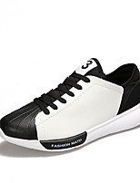 cheap -Men's Shoes PU Spring / Fall Comfort Sneakers Black / Silver / Black / White / Black / Red