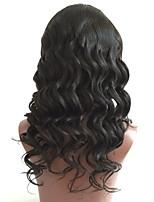Недорогие -Необработанные Парик Бразильские волосы Свободные волны Волнистый Стрижка каскад 130% плотность С детскими волосами Природные волосы