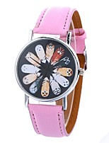 cheap -Women's Quartz Fashion Watch Chinese Large Dial PU Band Casual Owl Black White Blue Red Brown Green Pink Khaki Rose