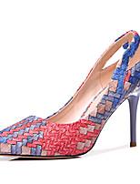 abordables -Femme Chaussures PU de microfibre synthétique Eté Automne Escarpin Basique Gladiateur Chaussures à Talons Talon Aiguille pour Soirée &