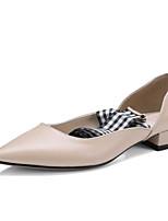 abordables -Mujer Zapatos Cuero Primavera / Otoño Confort Tacones Tacón Plano Negro / Nudo / Fiesta y Noche