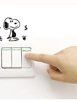 baratos -Decalque Autocolantes de Parede Decorativos Autocolantes de Interruptores de Luz Autocolantes de Frigorífico Autocolantes de Banheiro -