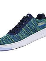 abordables -Hombre Zapatos Tul Primavera / Otoño Confort Zapatillas de deporte Negro / Gris / Verde y Azul