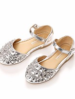 cheap -Girls' Shoes Sparkling Glitter / PU Spring / Fall Flower Girl Shoes / Comfort Flats for Casual / Party & Evening Gold / Silver