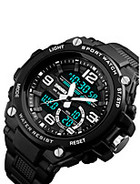 cheap -Men's Sport Watch Japanese Calendar / date / day / Chronograph / Water Resistant / Water Proof PU Band Luxury Black