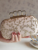 cheap -Women's Bags Terylene Evening Bag Appliques / Crystals for Event / Party Almond