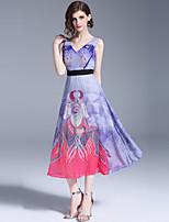 cheap -SHIHUATANG Women's Street chic Boho A Line Swing Dress - Floral, Print