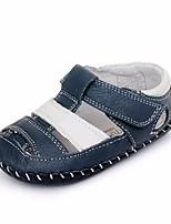 abordables -Fille Garçon Chaussures Cuir Eté Premières Chaussures Confort Sandales pour Décontracté Bleu