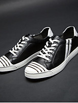 cheap -Men's Shoes Microfibre Spring Summer Comfort Sneakers for Casual Outdoor White Black